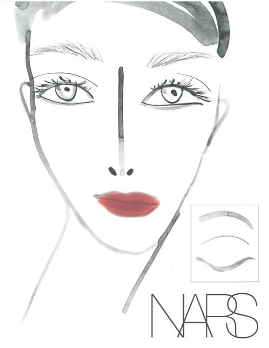 Tia Cibani Fall 2013 Face Chart