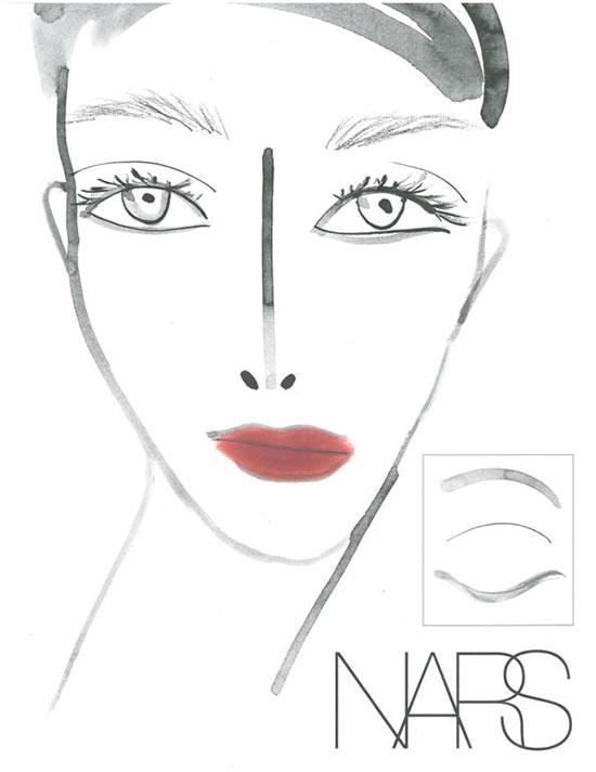 Tia Cibani Fall 2013 Face Chart