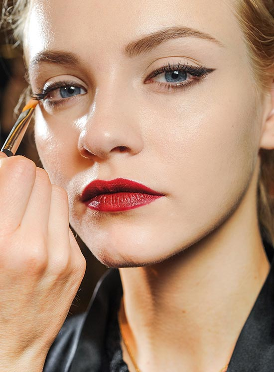 Cat Eyes and Crimson Lips at Dolce & Gabbana Fall 2013