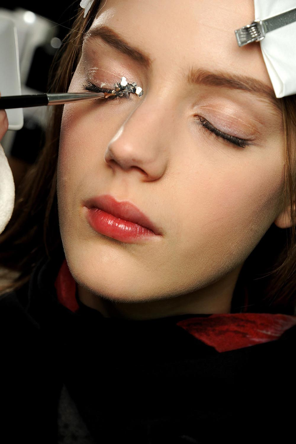 Chanel Fall 2013 backstage makeup