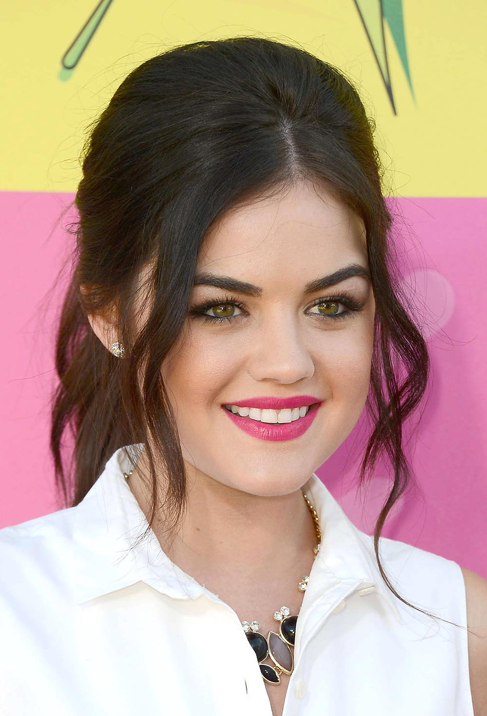 Lucy Hale's Makeup Look at 2013 Kids' Choice Awards