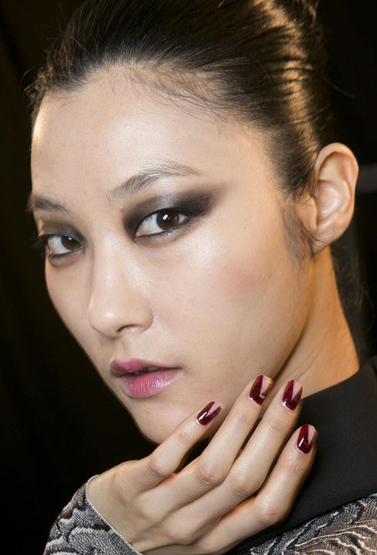Roland Mouret Fall 2013 backstage makeup by NARS
