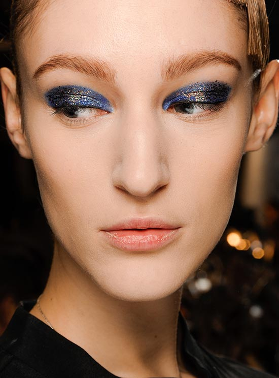 Navy + Gold Glittery Eye at Thakoon A/W 2013