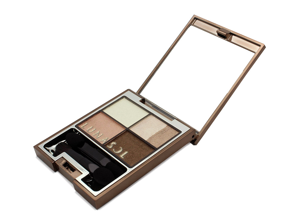 Lunasol Pink Beige Vivid Clear Eyes Eyeshadow Palette Review><p class=