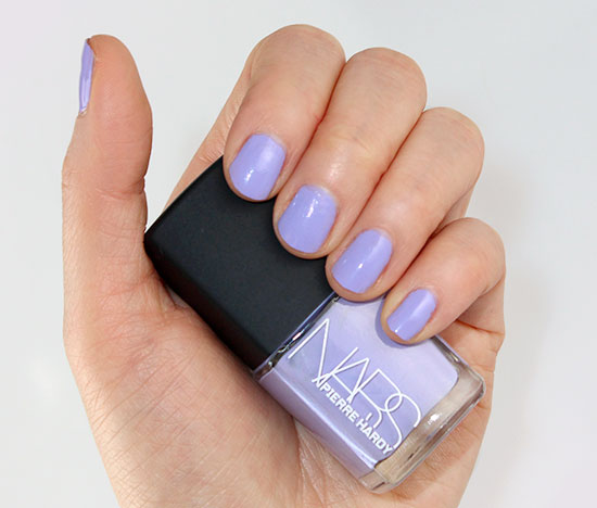 Swatch of NARS Pierre Hardy Sharks Nail Polish Duo right