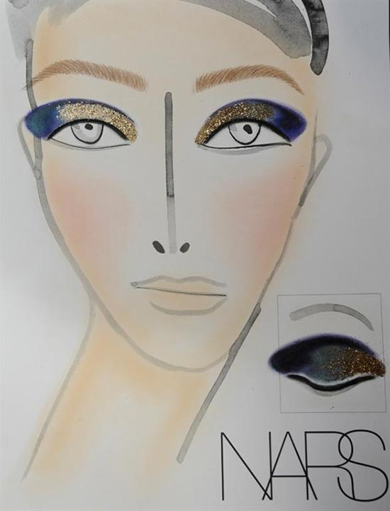 NARS makeup face chart at Thakoon A/W 2013
