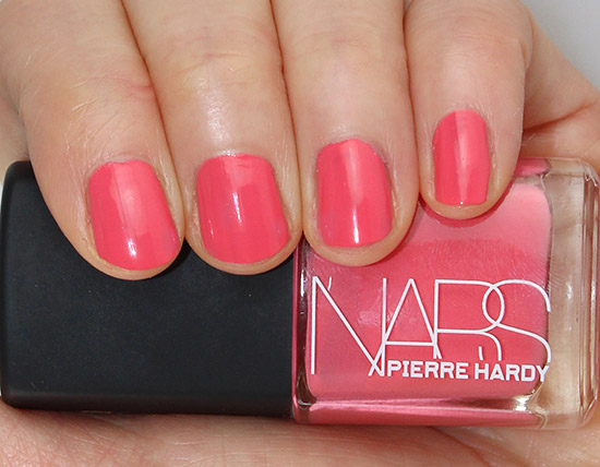 Swatch of NARS Pierre Hardy Vertebra Nail Polish Duo left