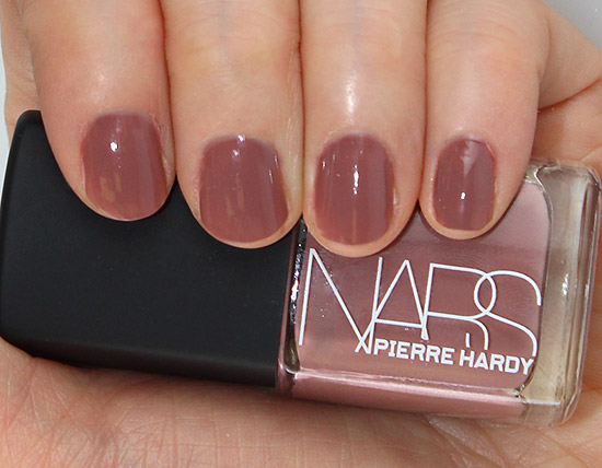 Swatch of NARS Pierre Hardy Vertebra Nail Polish Duo right
