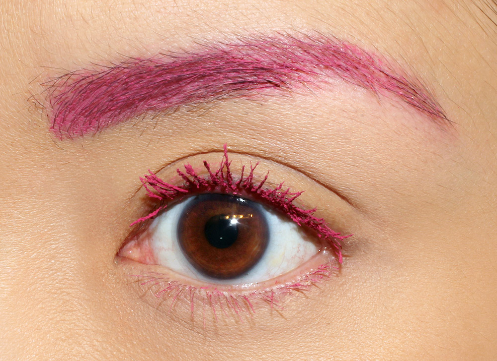 Wearing Anastasia Hypercolor Brow and Lash Tint in In The Pink