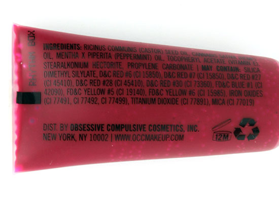 OCC Rhythm Box Stained Gloss Lip Tar review