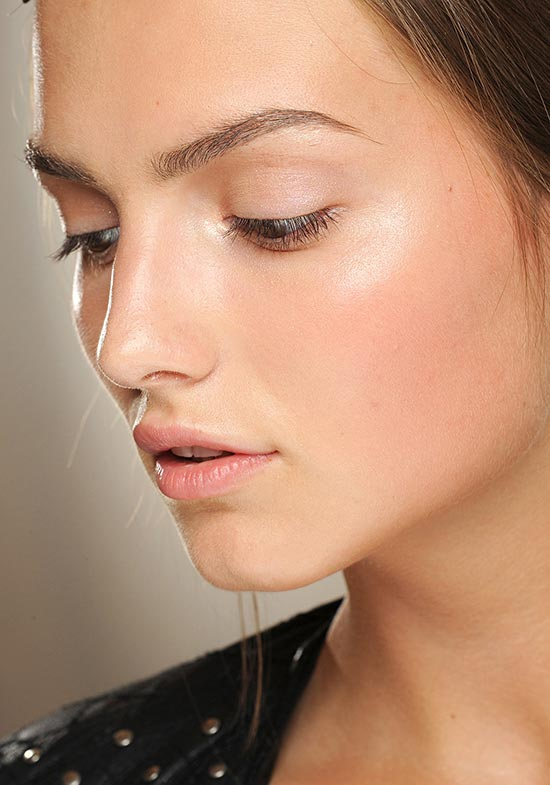 Dewy skin at Valentino Fall 2013 Couture show