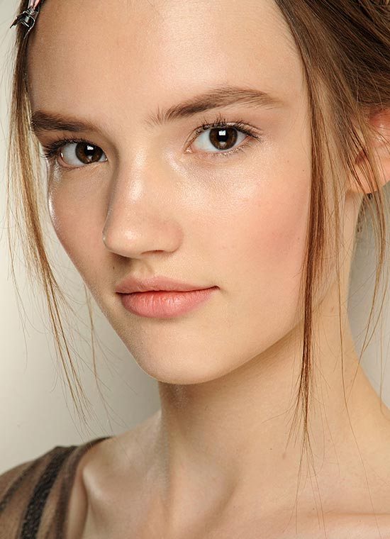 Nude makeup look at Valentino Fall 2013 Couture show