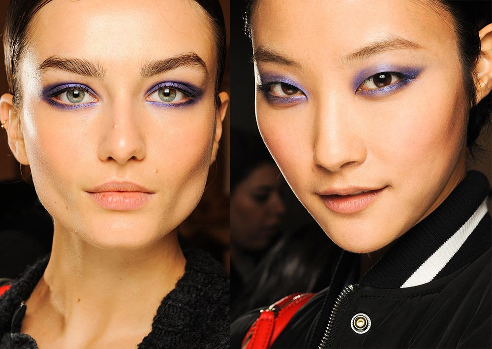 Blue Purple Smoky Eyes on Jason Wu A/W 2013 runway