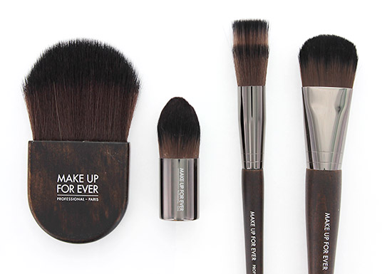 Make Up For Ever 132 Powder Flat Kabuki Brush, 102 Foundation Kabuki Brush, 148 Blending Blush Brush & 106 Foundation Brush
