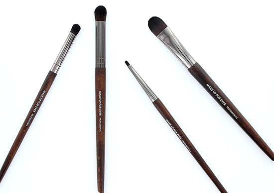 Make Up For Ever 216 Precision Blender Brush (Small), 236 Precision Blender Brush(Large), 258 Precision Eyeliner Brush (Large) and 244 Precision Shade Brush (Large)