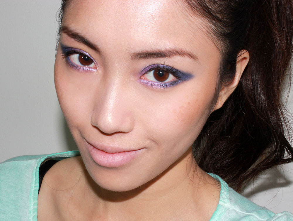 Purple Blue Smoky Cat Eye Makeup Tutorial