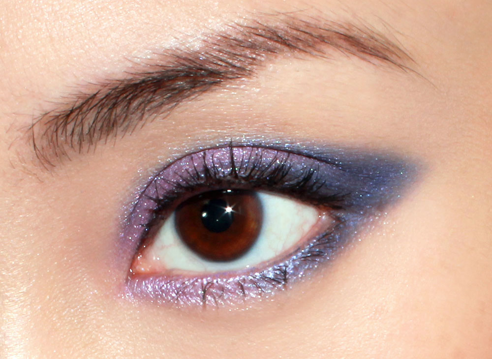 Purple Blue Smoky Cat Eye Makeup