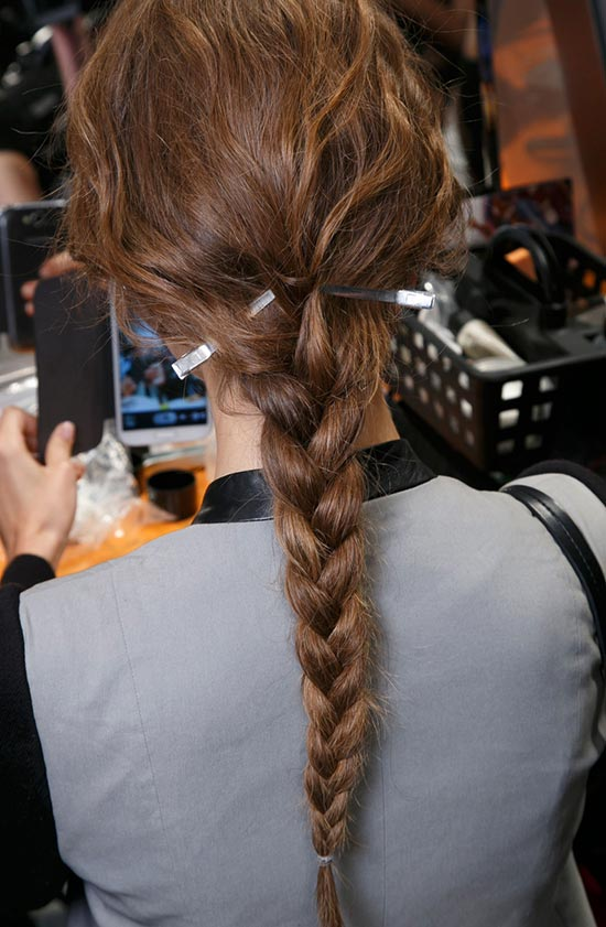 Romantic Hair at Alberta Ferretti S/S '14 backstage