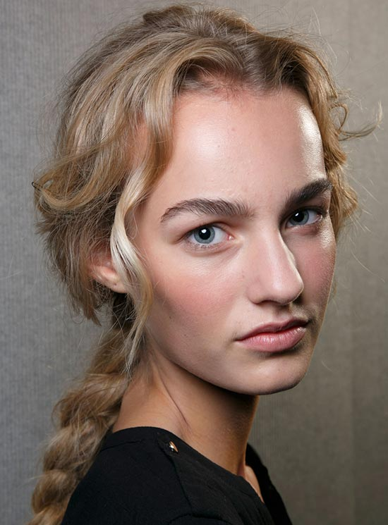 Romantic Makeup at Alberta Ferretti S/S '14 backstage by MAC Cosmetics
