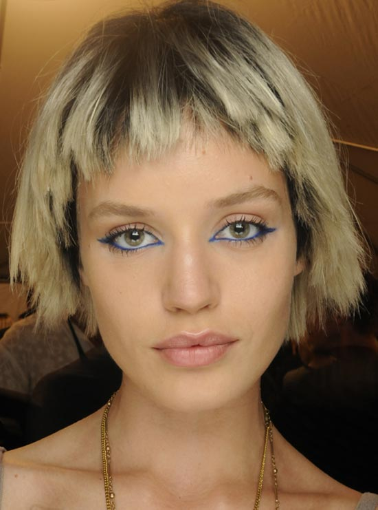 Royal blue Eyeliner at Marc Jacobs S/S '14