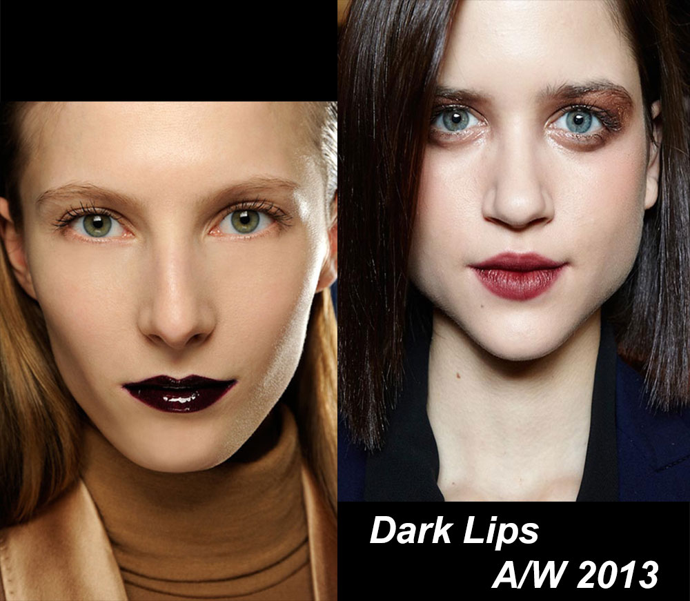 Dark lipstick trend for A/W 2013