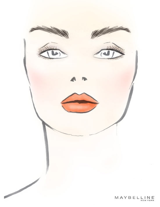 DKNY S/S 2014 facechart by Maybelline