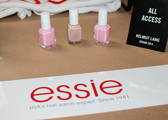 Essie backstage at Helmut Lang S/S 2014