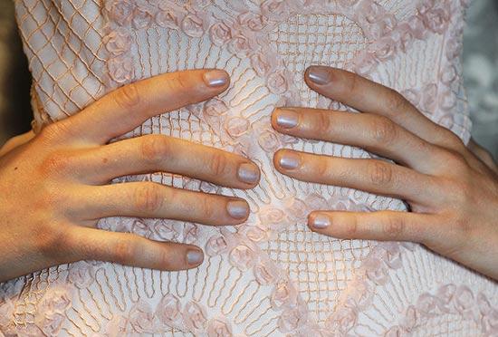 Glistening nails at Tadashi Shoji Spring 2014