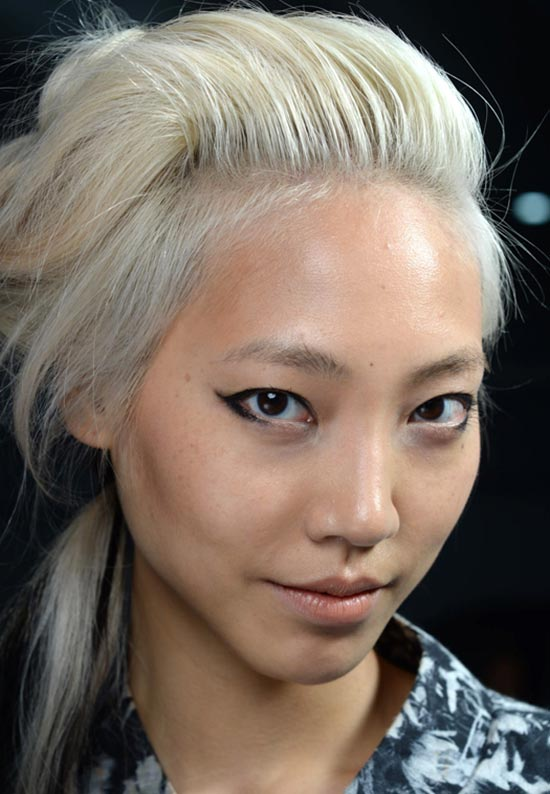 Graphic eyeliner at Rodarte S/S 2014