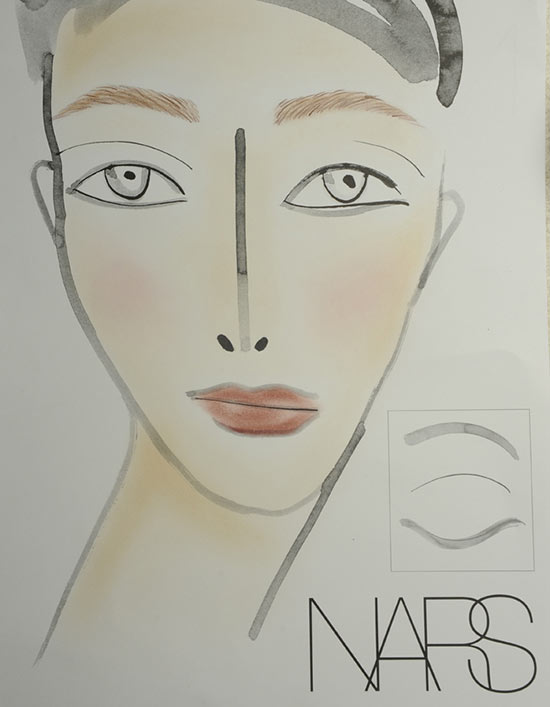 NARS facechart at Helmut Lang S/S 2014