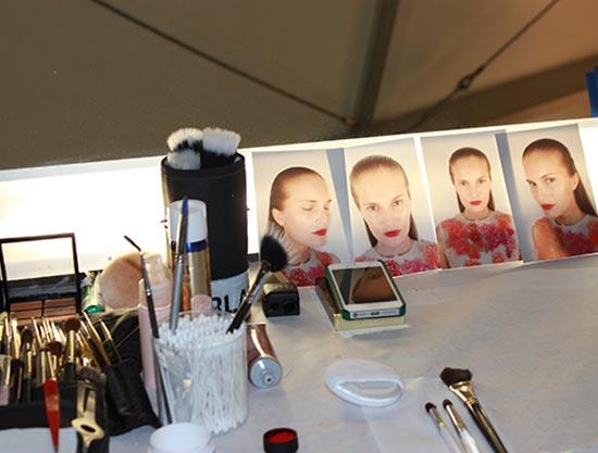 MAC backstage at Monique Lhuillier S/S 2014