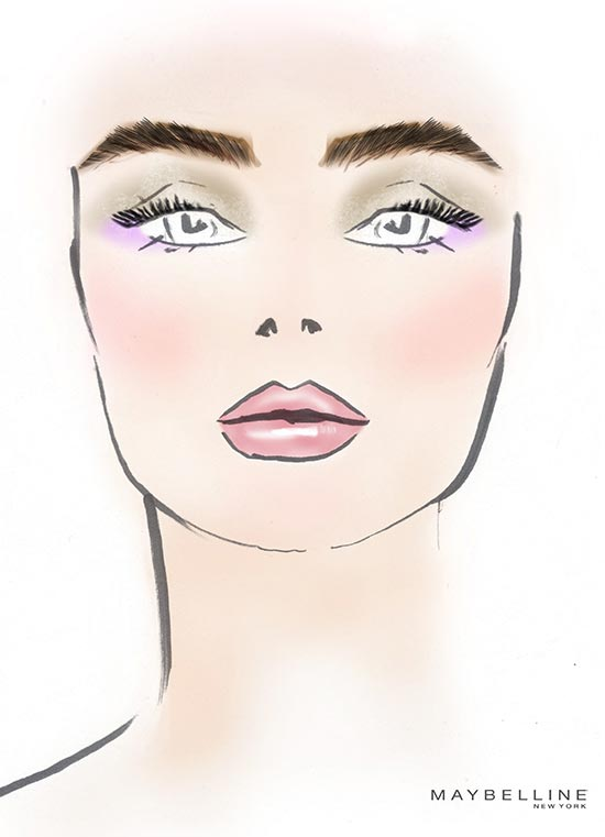 Mara Hoffman S/S 2014 facechart by Maybelline