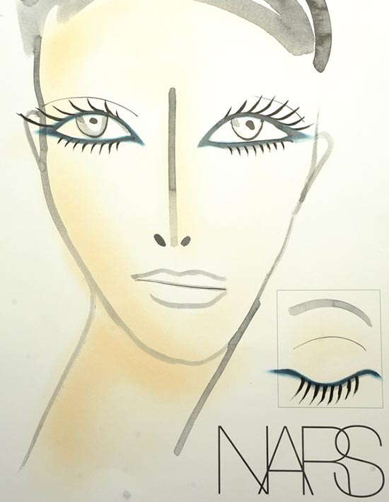 Marc Jacobs S/S '14 makeup facechart by NARS