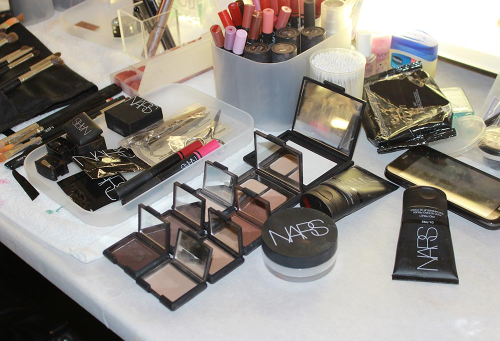 NARS backstage at Naeem Khan S/S 2014