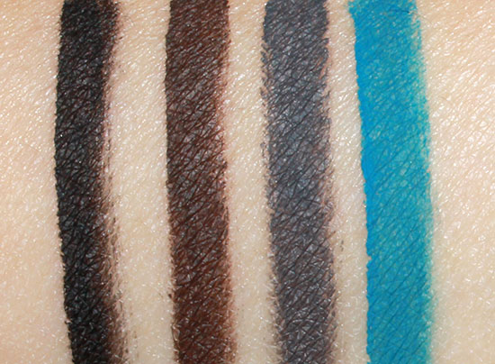 NARS Black Valley Mesopotamia, Transvaal and Solomon Island swatches