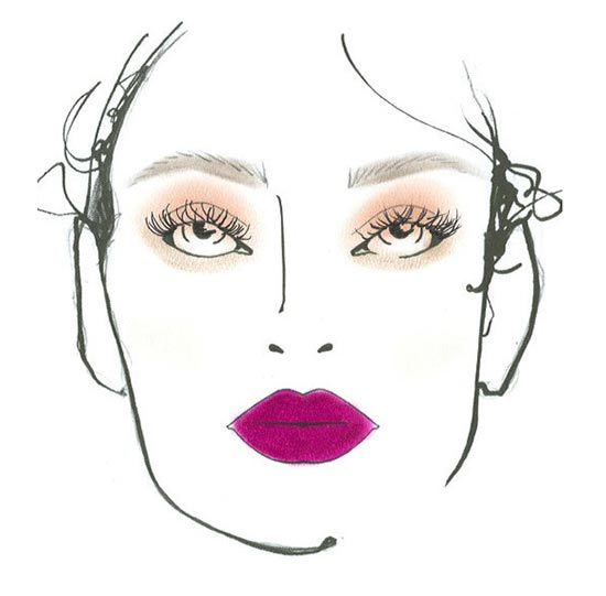 Nicole Miller S/S 2014 facechart by MAC
