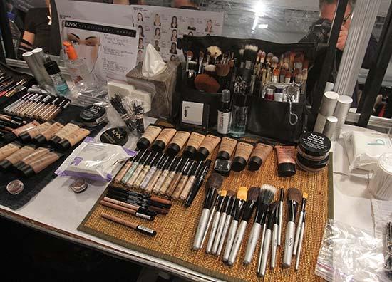 NYX backstage at Nicholas K S/S 2014