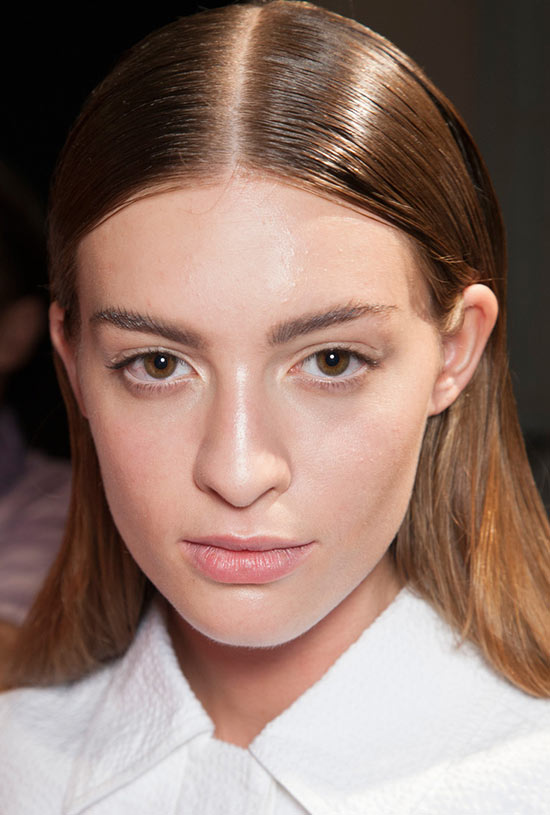 Minimal Makeup at Richard Chai Love S/S 2014