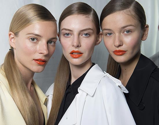Sleek ponytails by Wella at DKNY Spring 2014