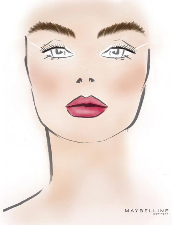 Tibi S/S 2014 facechart by Maybelline