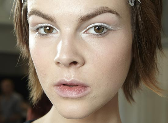 White eyeshadow at Tibi S/S 2014