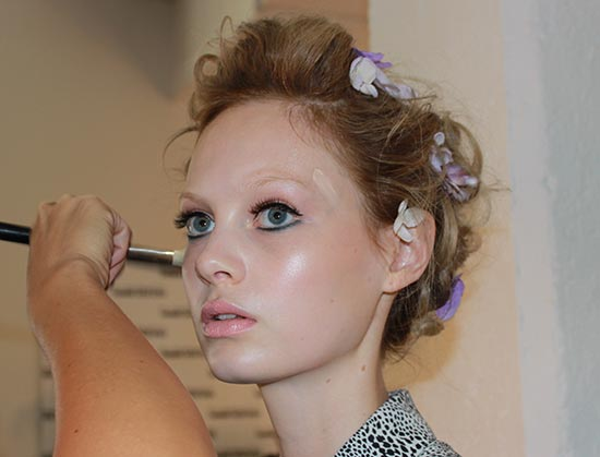 Zac Posen S/S 2014 backstage makeup by MAC