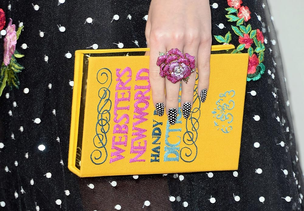 Katy Perry's Polka Dot Nail Look at 2013 AMA's