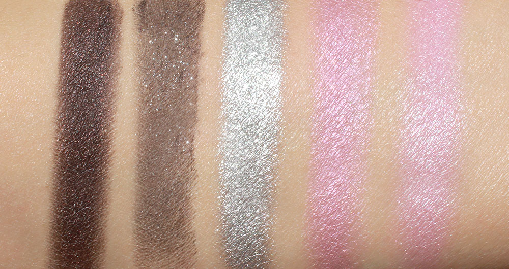 Urban Decay Vice 2 Smokeout, Lovesick, Shellshock, Coax and X-Rated eyeshadow swatches