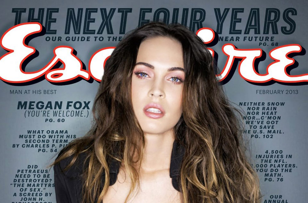 Megan Fox Pink Makeup Look in Esquire February 2013