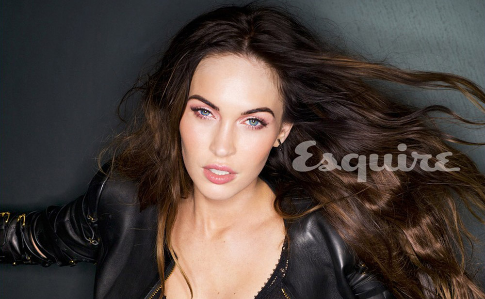 Megan Fox in monochromatic pink eyeshadow