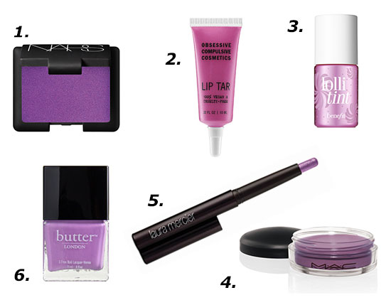 Pantone 2014 Radiant Orchid Makeup Products