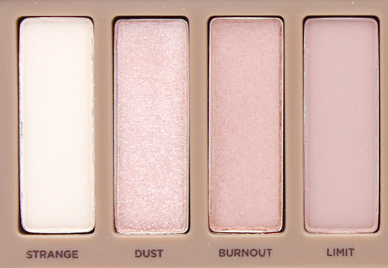 Urban Decay Naked 3 Strange, Dust Burnout and Limit Eyeshadows