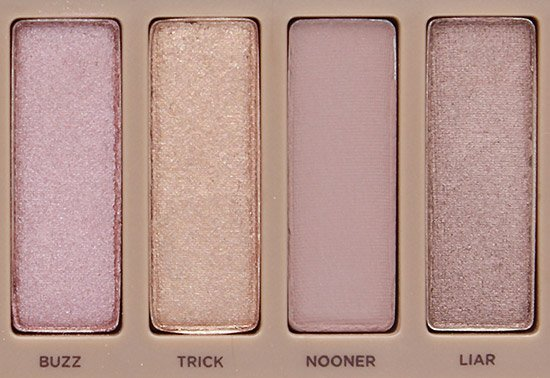 Urban Decay Naked 3 Buzz, Trick, Nooner and Liar Eyeshadows