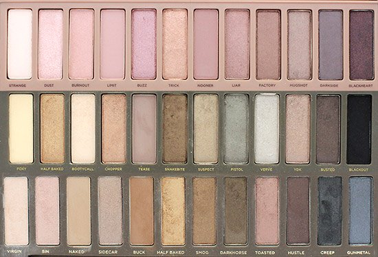 Urban Decay Naked, Naked 2 and Naked 3 Palette comparison